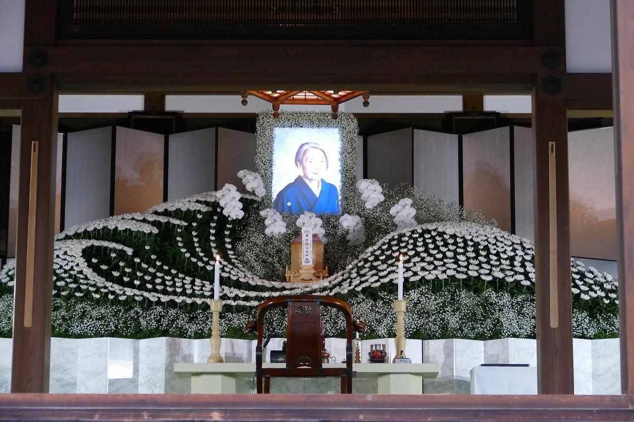樹木希林さんのお葬式の祭壇