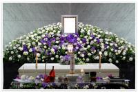 茅ヶ崎市斎場で仏教のお葬式(100名)