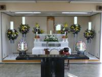 大和高田市営斎場内の式場でのお葬式