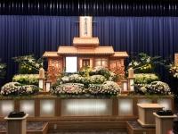 可児駅前ホールでの一般葬