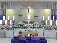 市川市斎場(第三式場)で新デザインの花祭壇
