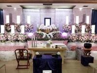 馬込斎場でたくさんのお花に囲まれたお葬式